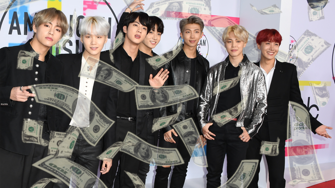 BTS have acquired a huge net worth