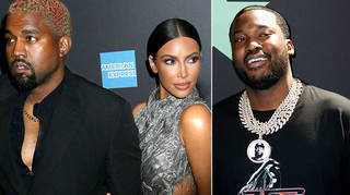 A snap of Kim Kardashian and Meek Mill's lunch has surfaced online
