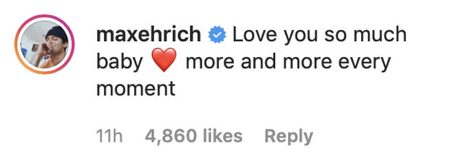 Max Ehrich gushed about his engagement to Demi Lovato