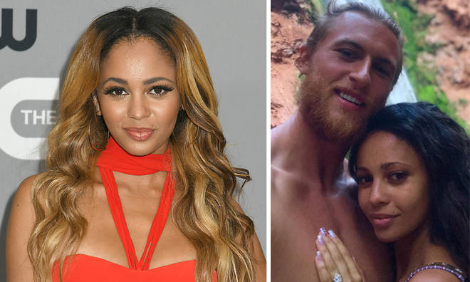Pregnant Vanessa Morgan and her husband have split.