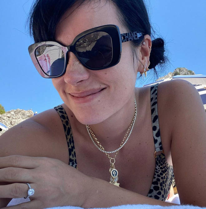 Lily Allen's diamond ring gave away that she was engaged to David Harbour