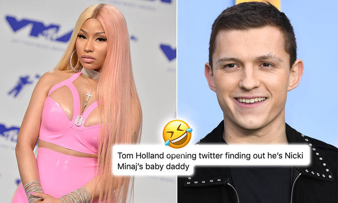 Nicki Minaj's fans were left in hysterics after seeing tweets about the rapper and Tom Holland