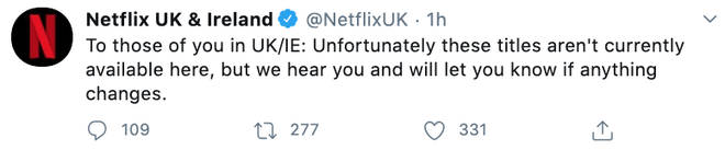 Netflix UK responded to viewers' complaints
