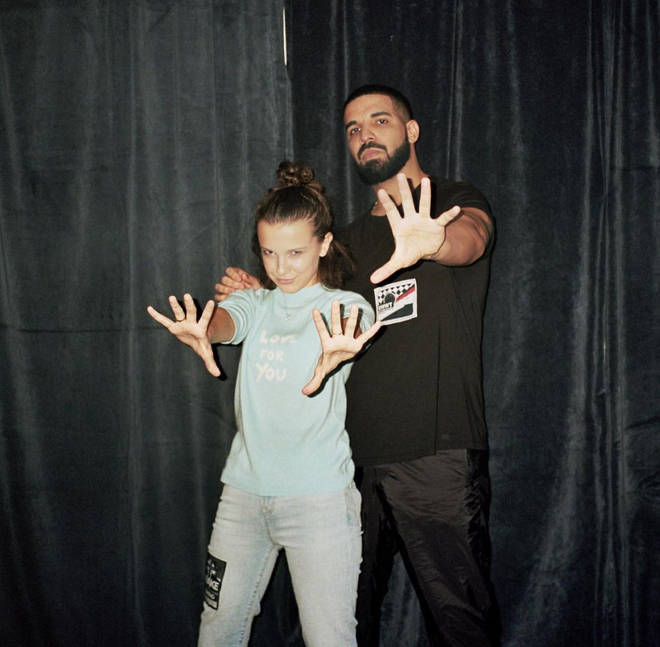 Drake and Millie Bobby Brown shared their first pictures together in November 2017