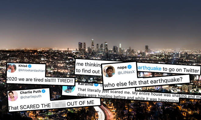 Celebrities are responding to the earthquake which hit LA in the early hours
