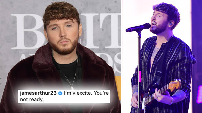 James Arthur has been writing music for his new album over the last 'couple of months'.