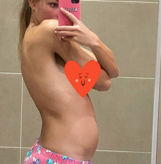 Zara McDermott posts snap of her stomach after eating pasta