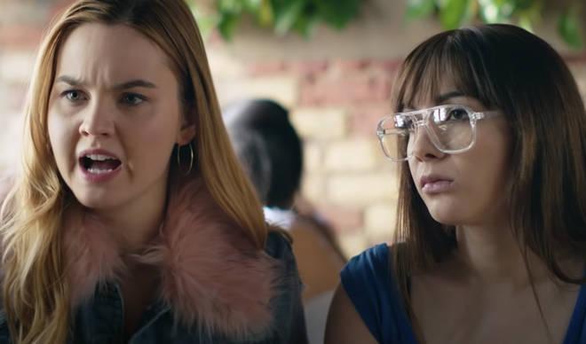 Hannah Marks and Liana Liberato star alongside Dylan Sprouse in Banana Split