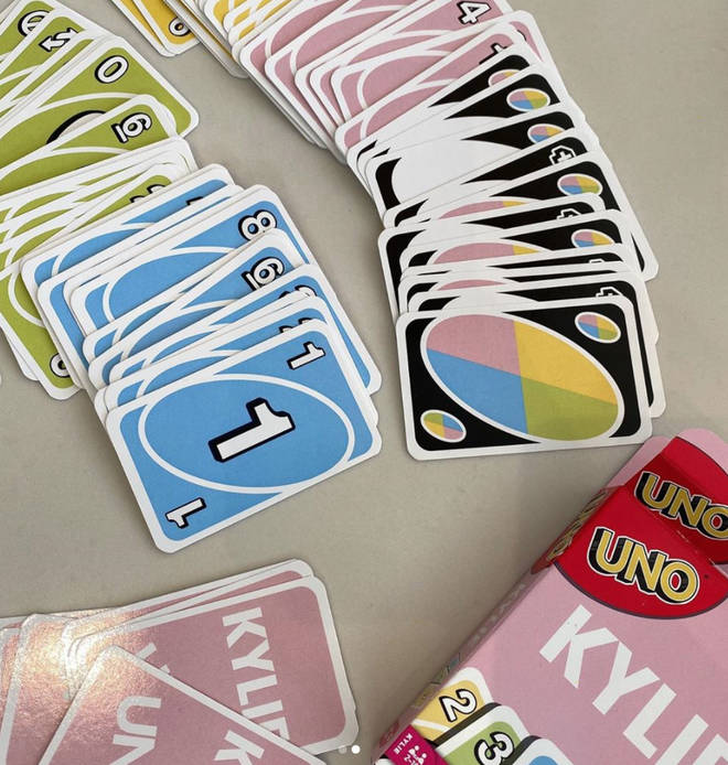 Kylie Jenner's UNO cards are pastel coloured