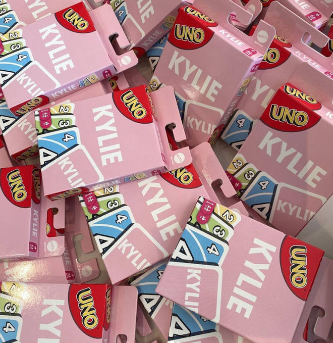 Kylie Jenner's UNO cards are pink with her own name on