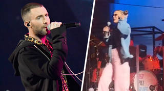Millie Bobby Brown joined Adam Levine on stage to rap during 'Girls Like You'