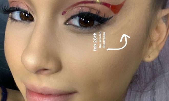 Ariana Grande shows off Lady Gaga injury