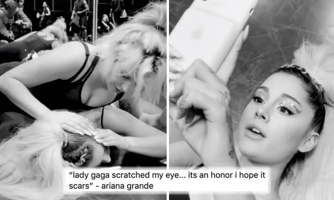 Ariana Grande and Lady Gaga's hilarious friendship behind the scenes of 'Rain On Me' music video