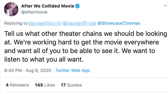 After We Collided creators are trying to get the film shown in as many countries as possible