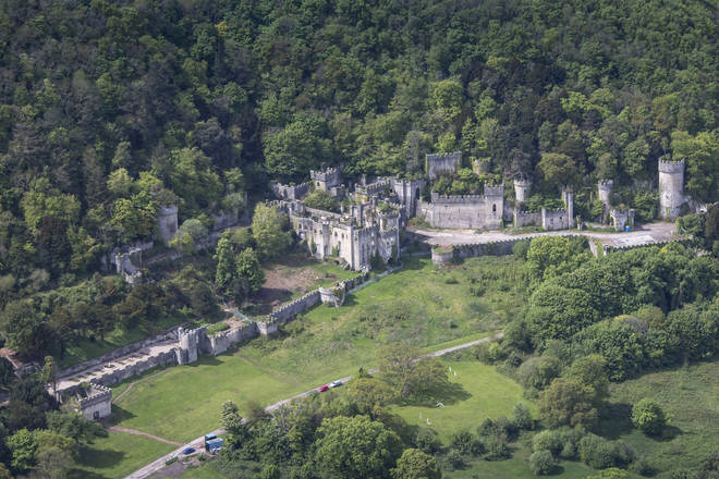 Gwrych Castle in Wales is set in 250 acres of historic gardens