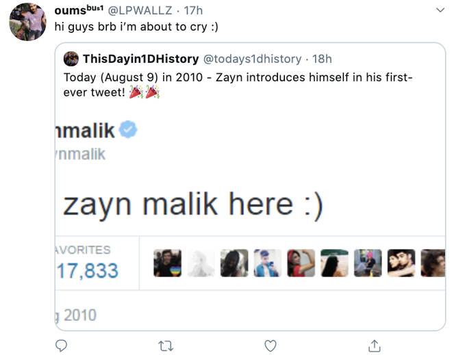 1D fans were commenting on Zayn's first post