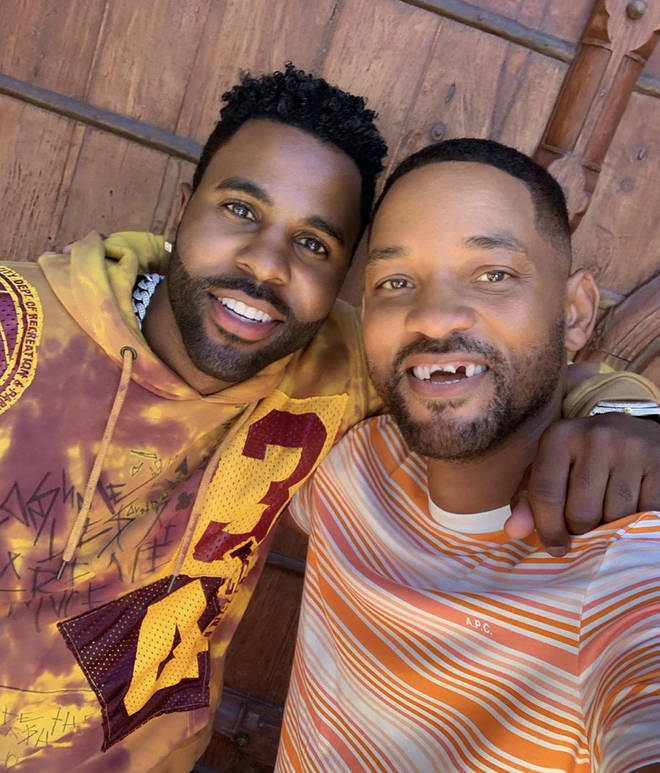 Jason Derulo teamed up with Will Smith for his latest TikTok video