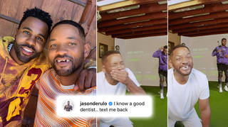 Jason Derulo and Will Smith pranked fans with a golf lesson gone wrong video