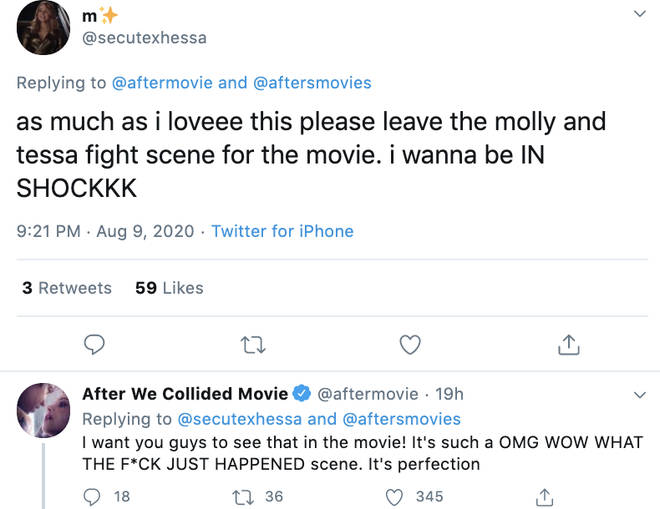 After fans want to see what goes down between Tessa and Molly