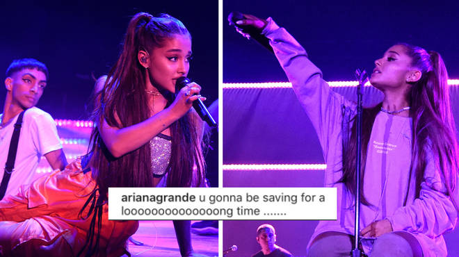 Ariana Grande seemed to confirm she won't be touring anytime soon.