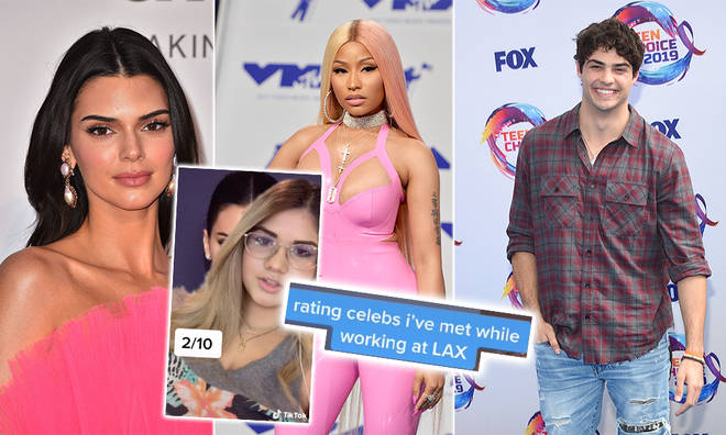 The TikTok star went through a number of celebs in the videos