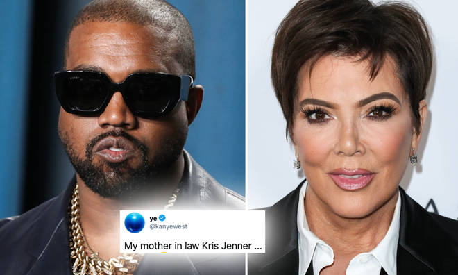Kanye West has been tweeting about his mother-in-law, Kris Jenner, again.