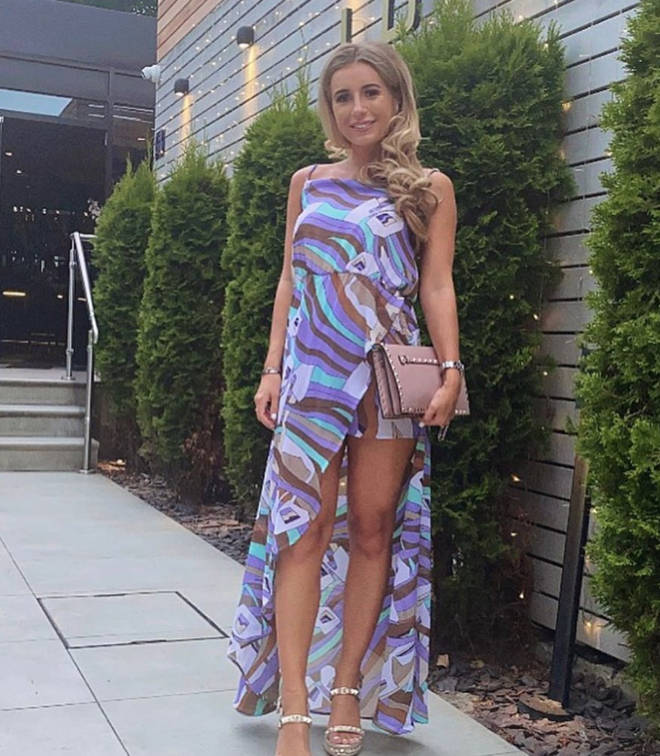 Dani Dyer wore a stunning flowing dress to celebrate her birthday