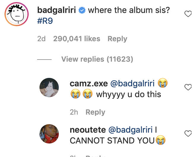 Riri left a hilarious comment on the viral clip