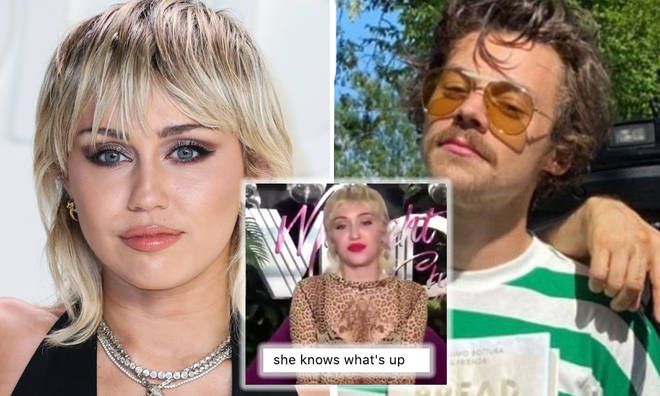 Miley Cyrus says Harry Styles is hot whatever style he rocks