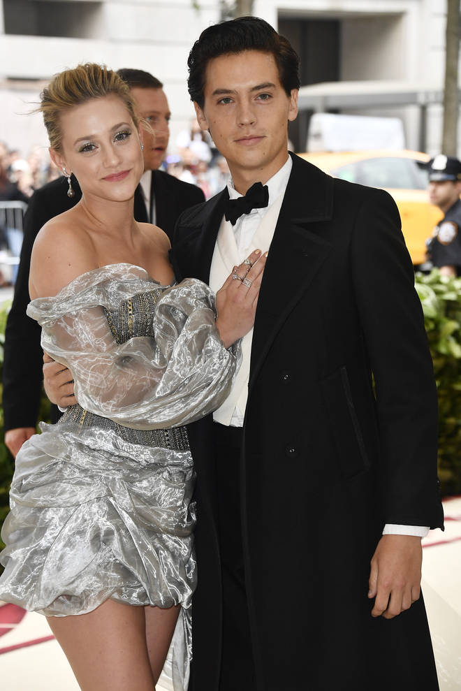 Lili Reinhart and Cole Sprouse walk the red carpet at the 2018 Met Gala together
