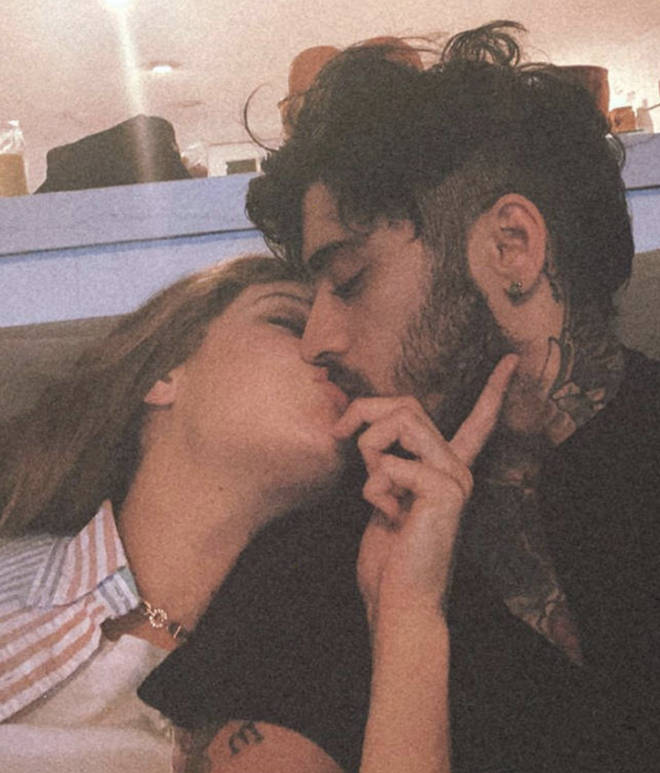 Gigi shared a rare photo with her boyfriend Zayn