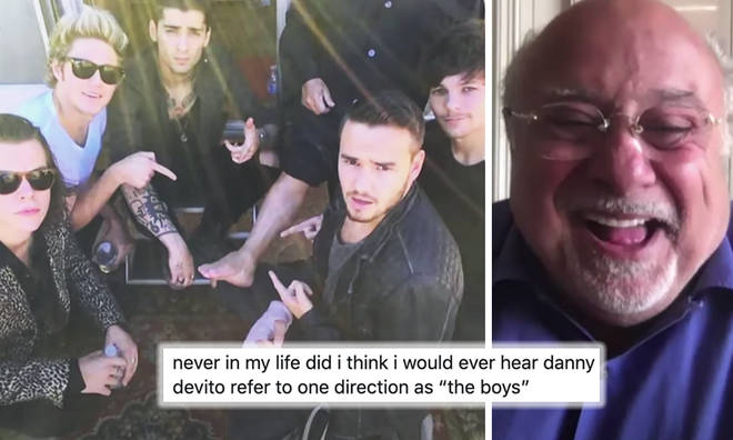 Danny DeVito recounts hanging out with One Direction