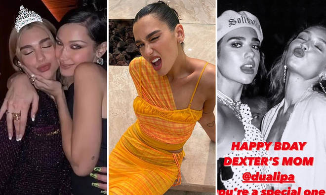 Gigi and Bella Hadid wished Dua Lipa a Happy Birthday