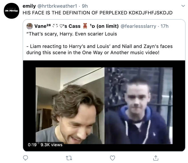 1D fans commented on Liam's hilarious reaction