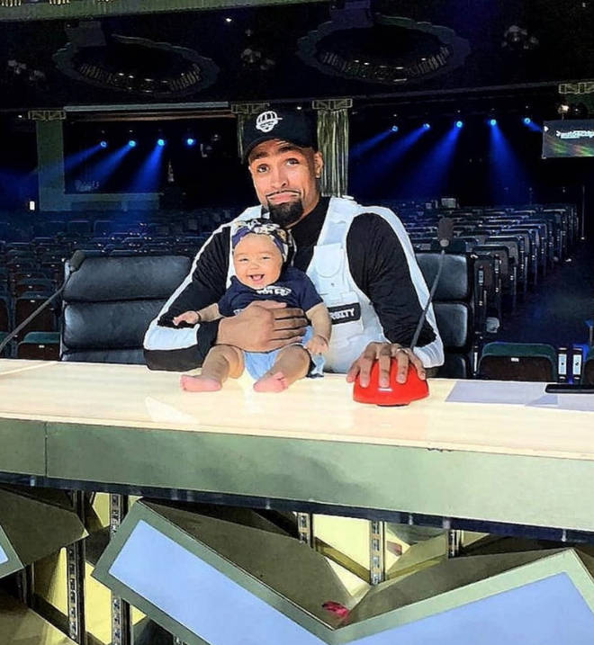 Ashley Banjo brought his new baby boy to the set of BGT