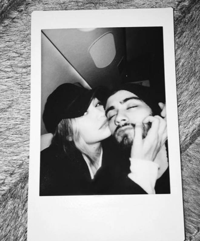 Zayn and Gigi have a number of adorable polaroid pics