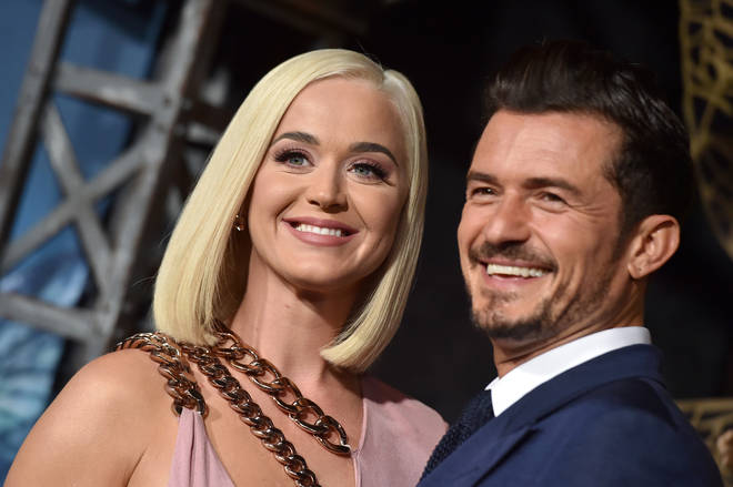 Katy Perry and Orlando Bloom at the LA premiere of Amazon's Carnival Row