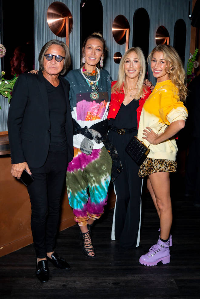 Mohamed Hadid with his ex wife and daughters Alana and Marielle