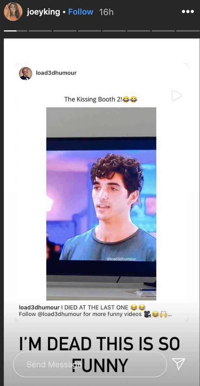 Joey King reposted the TikTok