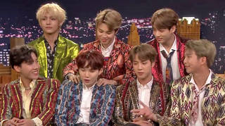 BTS performed two songs when they appeared on The Tonight Show Starring Jimmy Fallon