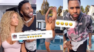 Jason Derulo trolled Jena Frumes while she attempted the WAP challenge