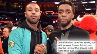 Michael B Jordan shared an emotional tribute to Chadwick Boseman