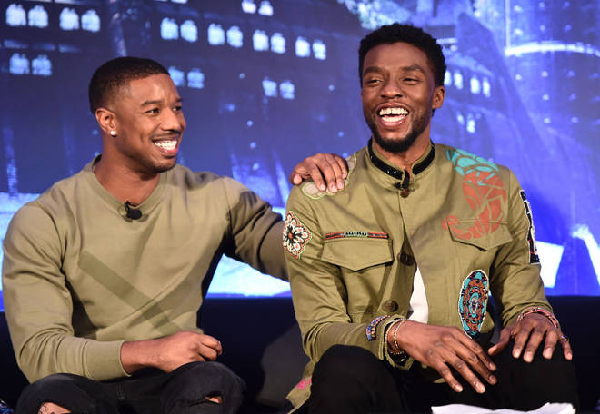 Michael B Jordan and Chadwick Boseman starred in Black Panther together