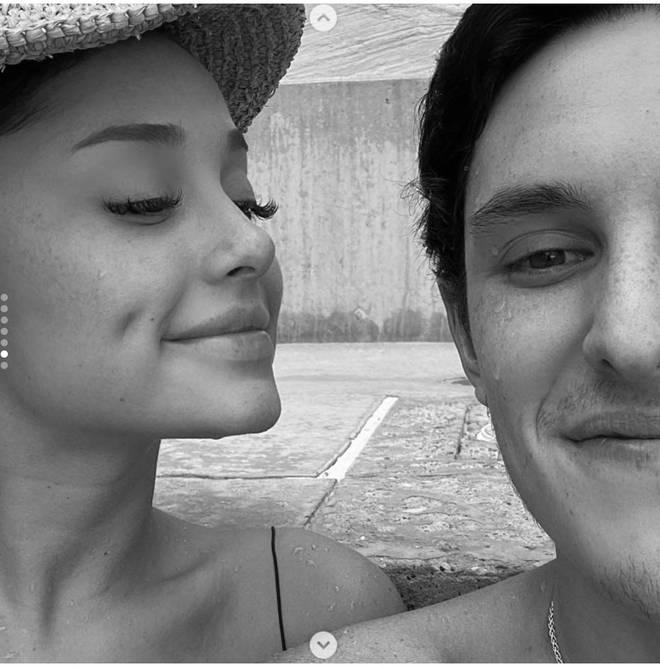 Ariana Grande has posted a few photos of boyfriend Dalton