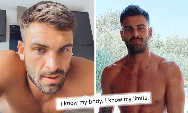 Adam Collard has caught Coronavirus after Greek getaway