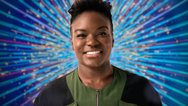 Nicola Adams OBE is ditching her boxing gloves for ball gowns