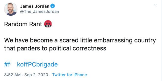 James Jordan 'rants about same sex coupling on Strictly'