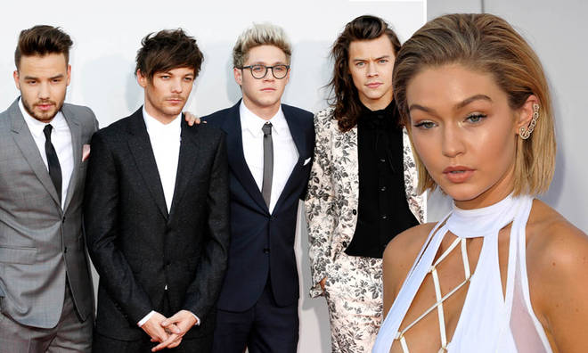 Gigi Hadid ran into 1D at the AMAs in 2015
