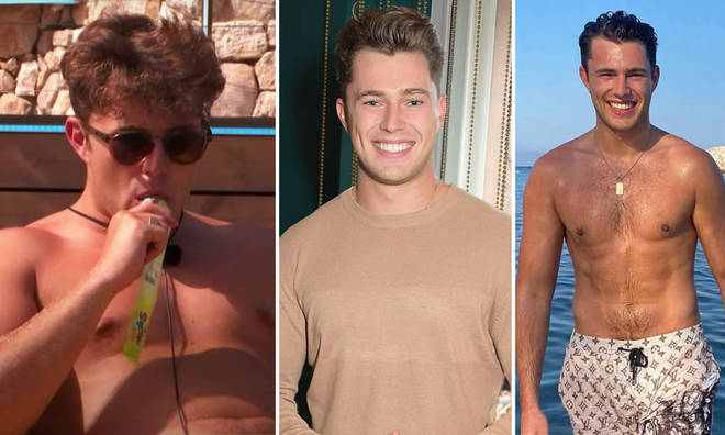 Curtis Pritchard has slimmed down since Love Island