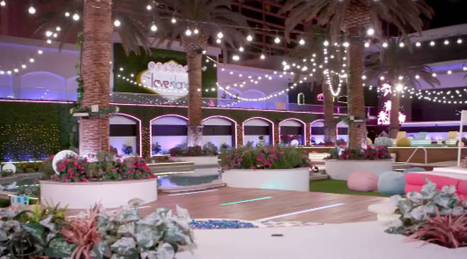 The classic 'Love Island' outdoor area has been fitted into a Vegas hotel
